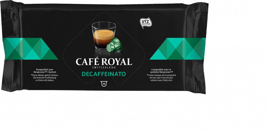 Капсулы для кофемашин Nespresso® Cafe Royal Decaffeinato