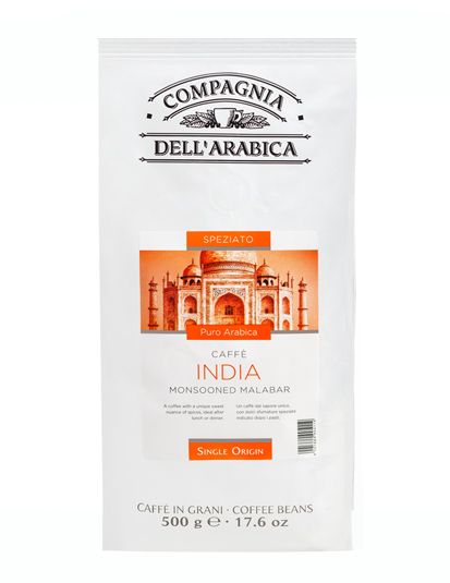 Кофе в зернах Compagnia Dell` Arabica India Monsooned Malabar (500 г)